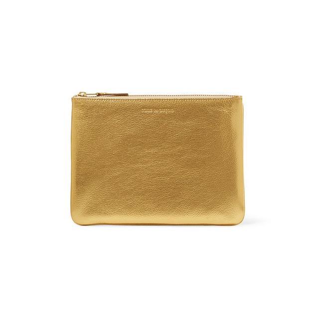 Commes Des Garcons Metallic Leather Textured Pouch