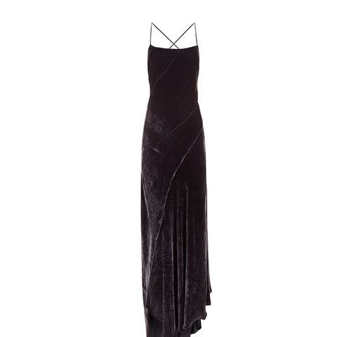 Charcolat Velvet Sleeveless Slip Dress