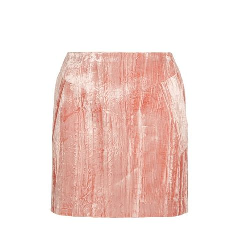 Mayall Crushed Velvet Mini Skirt