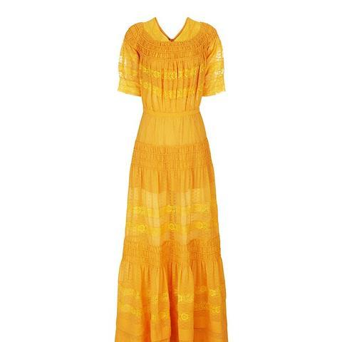 Marigold Yellow Chiffon Katrina Dress