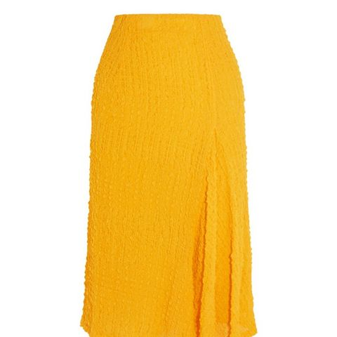 Silk Seersucker Skirt