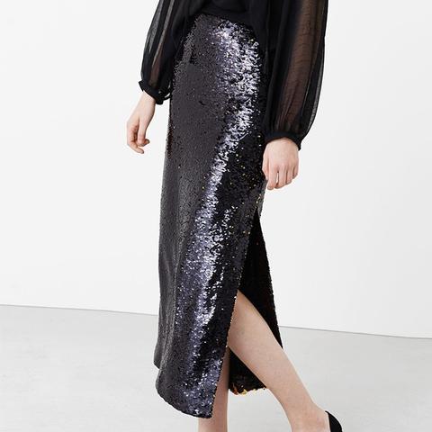 Reversible Sequin Skirt