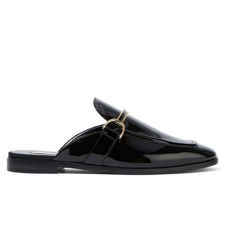 Faux Patent Leather Slippers