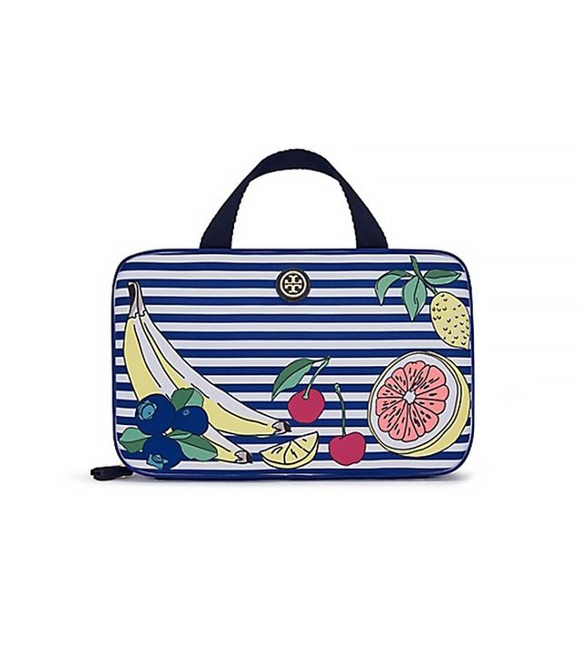 Tory Burch Printed Nylon Hanging Zip Cosmetic Case