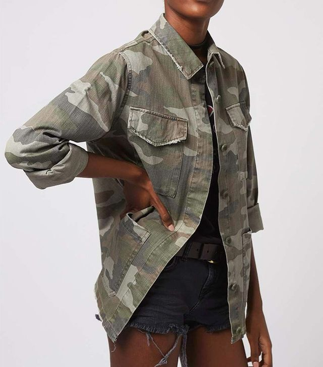 Topshop Authentic Camo Shacket