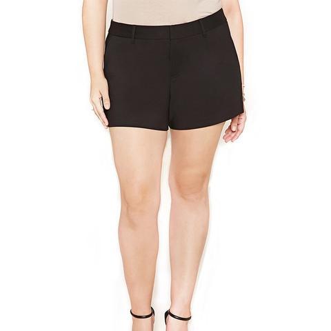 Plus Size Woven Shorts