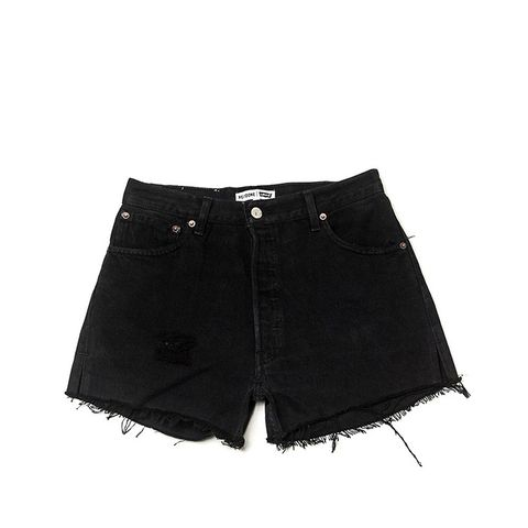 The Black High Rise Shorts