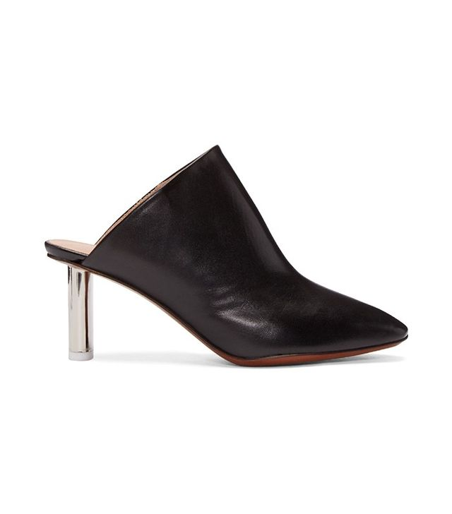 Vetements Black & Silver Lighter Heel Mules