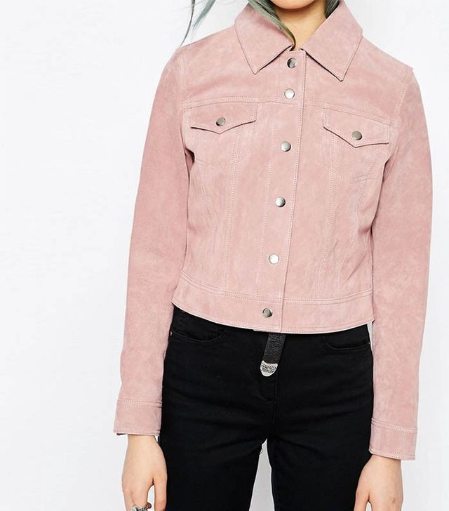 ASOS Western Jacket in Suede