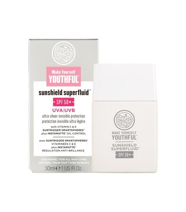 Soap & Glory Make Yourself Youthful Sunshield Superfluid SPF50+