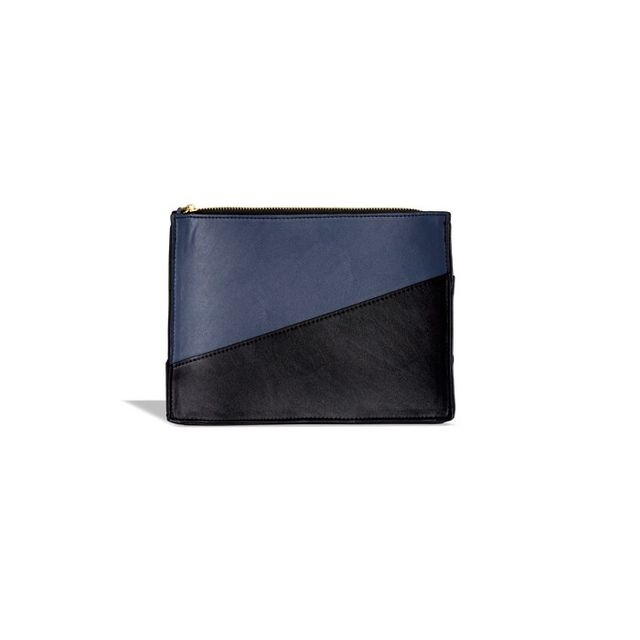 Who What Wear Color Blocked Zip Clutch