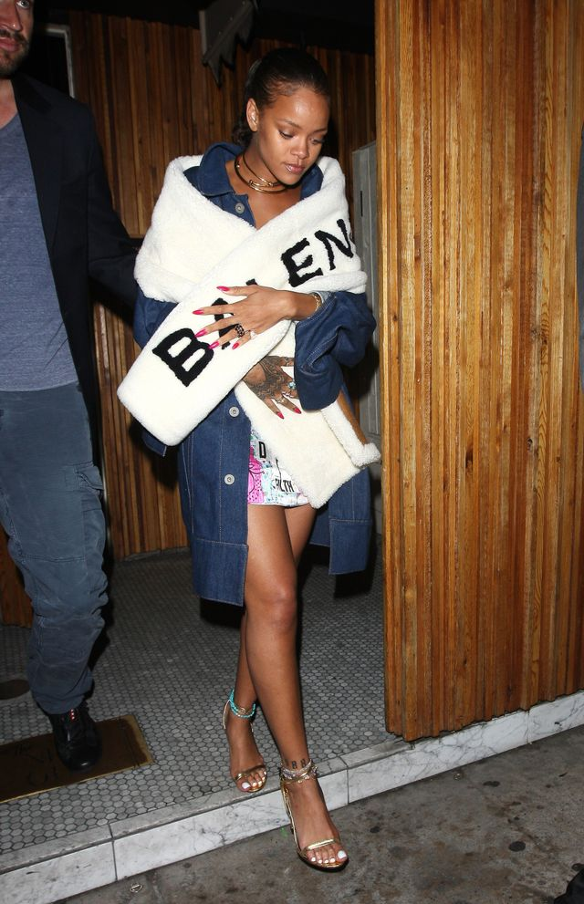 Rihanna leaving The Nice Guy, L.A., June 12, 2016