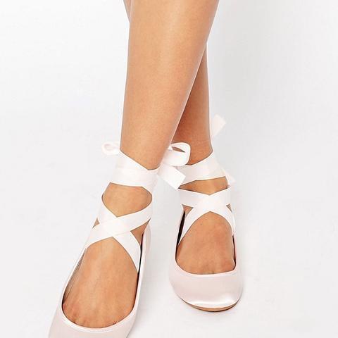 Lydia Ribbon Ballet Flats