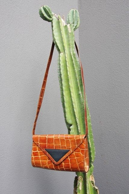 Missoni Convertible Leather Croc Bag