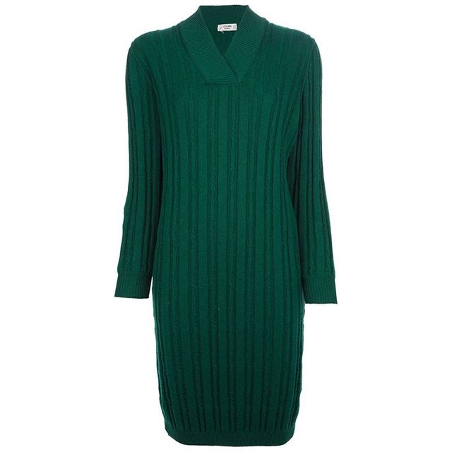 Celine Vintage Ribbed Dress