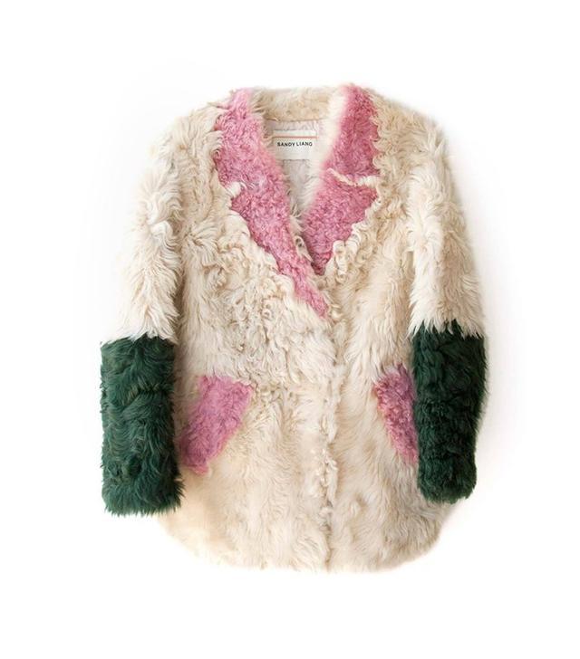 Sandy Liang Ermie Shearling Coat