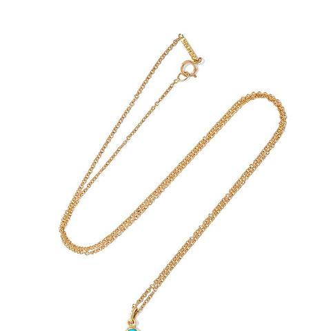 18-Karat Gold Turquoise Necklace