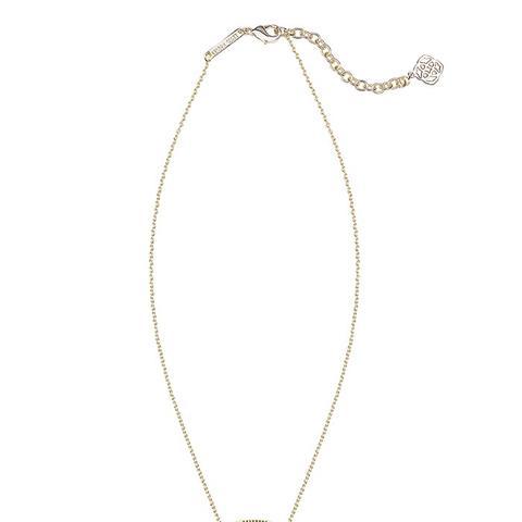 Elisa Pendant Necklace in Royal Blue Kyocera Opal