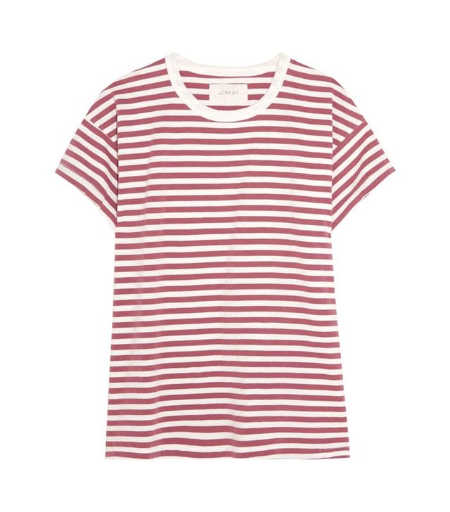 The Great Striped Cotton-Jersey T-shirt