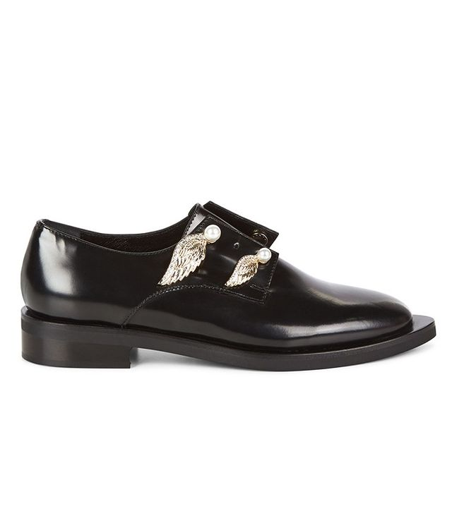 Coliac Black Leather Wing Brogues