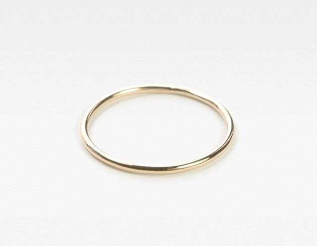 Vrai and Oro Yellow Gold Skinny Stacking Ring, Set of 3