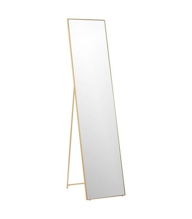 CB2 Infinity Brass Standing Mirror