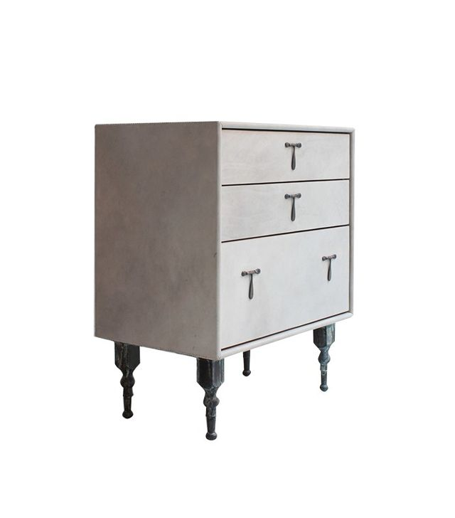 BDDW Leather Side Table