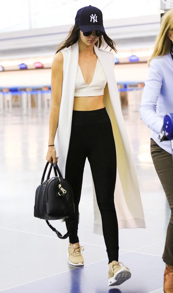 Leggings + Crop Top + Vest