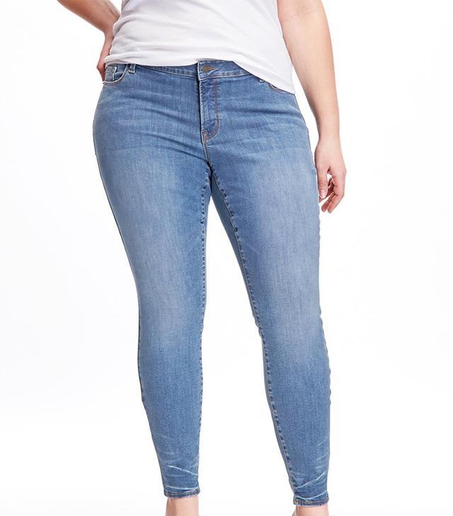 Old Nave Mid-Rise Plus Size Built-In Sculpt Rockstar Jeans