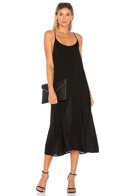 Racer Slip Dress in Black. - size XS (also in S)