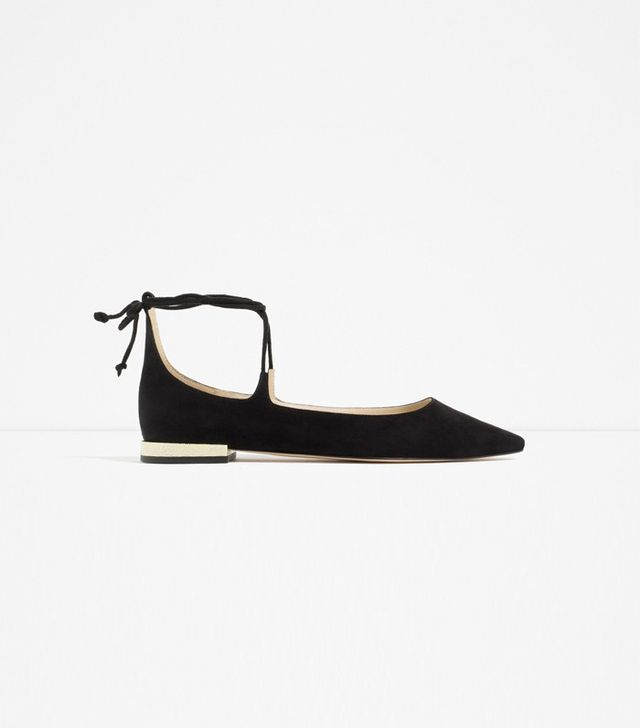 Zara Lace-Up Ballet Flats