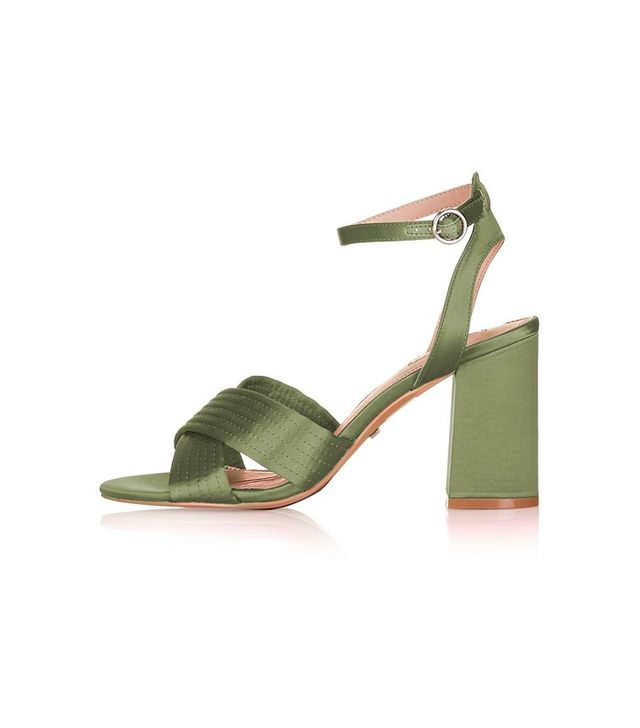 Topshop Rich Satin Cross Strap Sandals