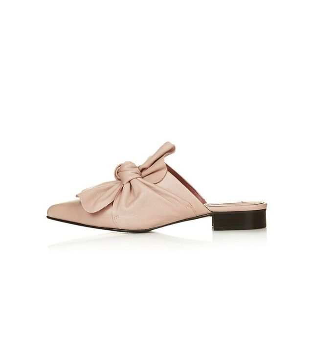 Topshop Pistachio Limited Edition Bow Mules