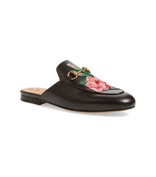 Gucci Princetown Embroidered Mule Loafer
