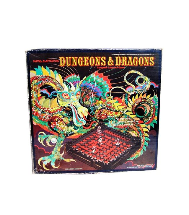 Dungeons & Dragons Vintage Computer Labyrinth Game '80s Board Game Complete