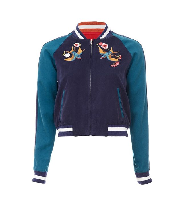 Elizabeth and James Willa Reversible Embroidered Bomber Jacket