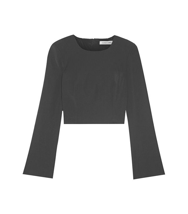 Elizabeth and James Loe Cropped Crepe Top