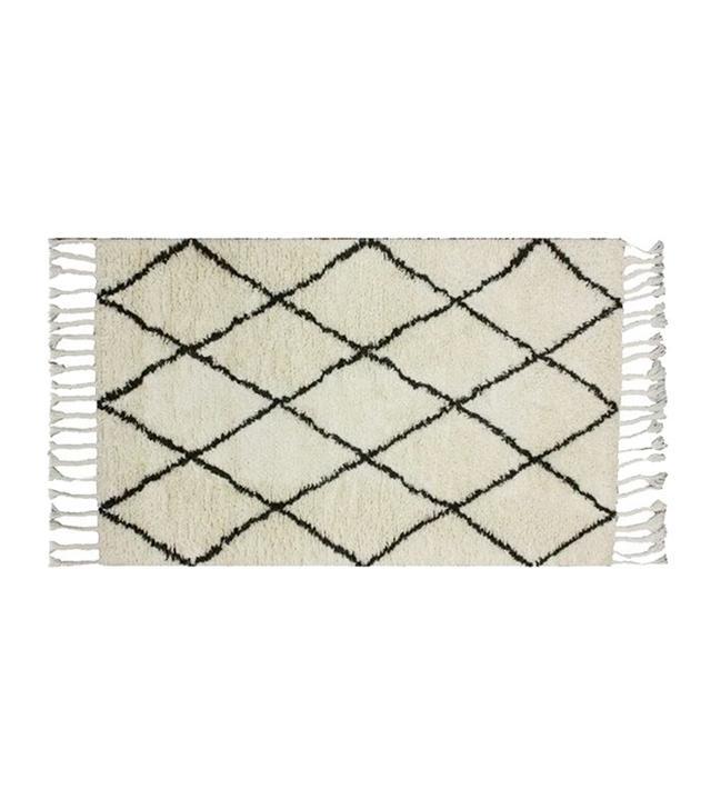 Beni Ourain Rugs Moroccan Rug - Beni Ourain Tribal Rug - Shag Pile - Natural Wool