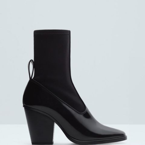 Contrast Materials Ankle Boots