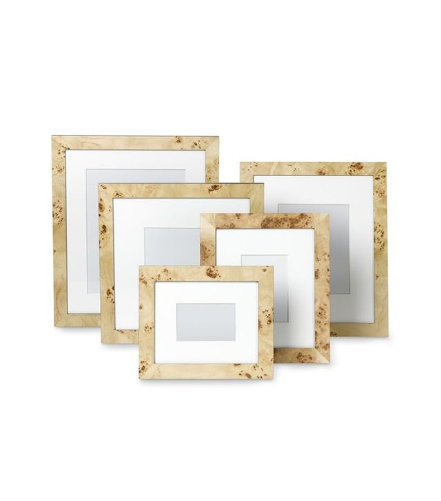 Williams-Sonoma Home Exotic Burled Wood Gallery Picture Frame