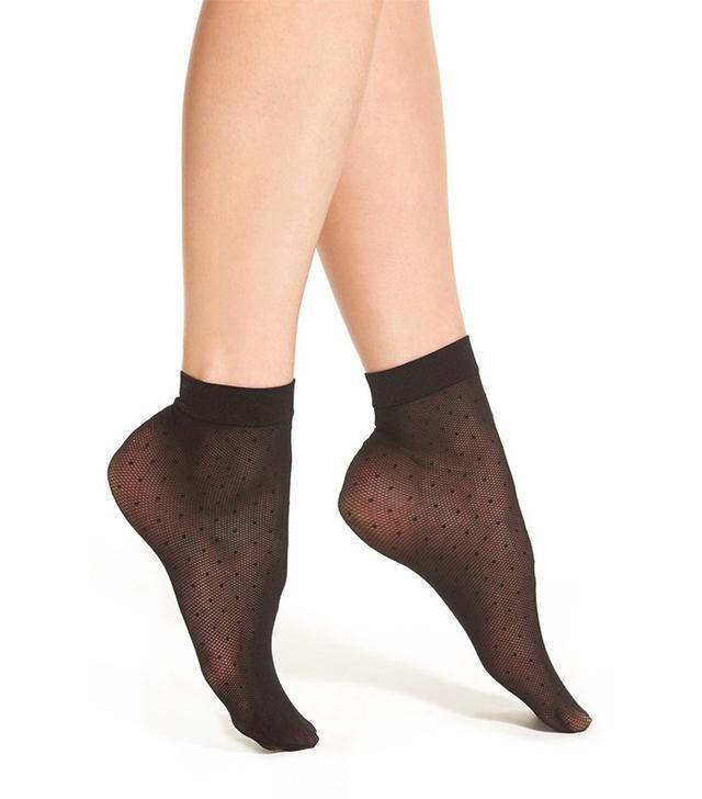 Chelsea28 Sheer Dot Ankle Socks