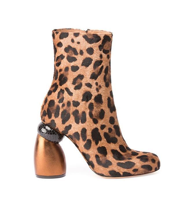 Dries Van Noten Leopard-Print Calf Hair Boot