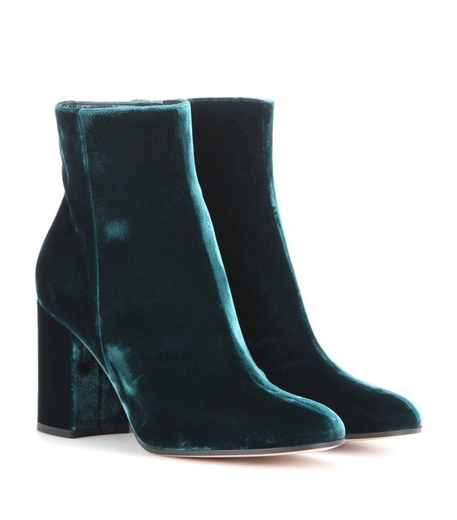 Gianvito Rossi Rolling Velvet Ankle Boots