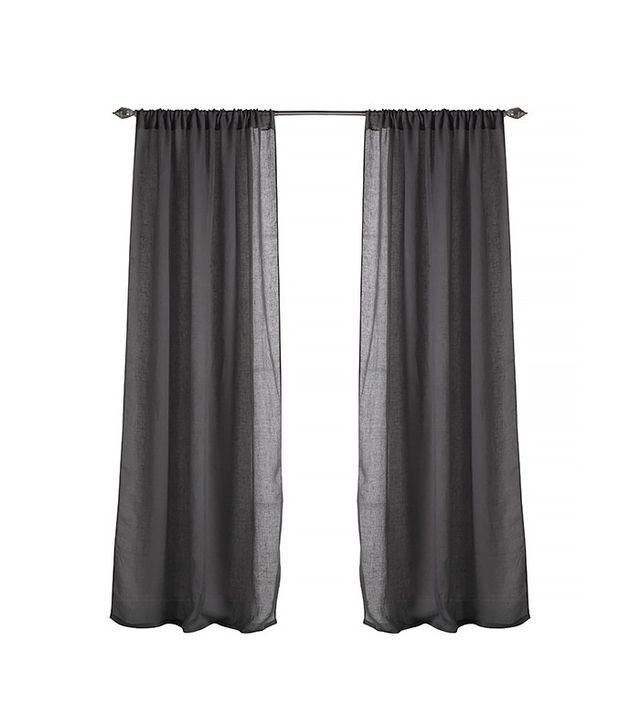 Couture Dreams Solid Linen Rod Pocket Single Curtain Panel