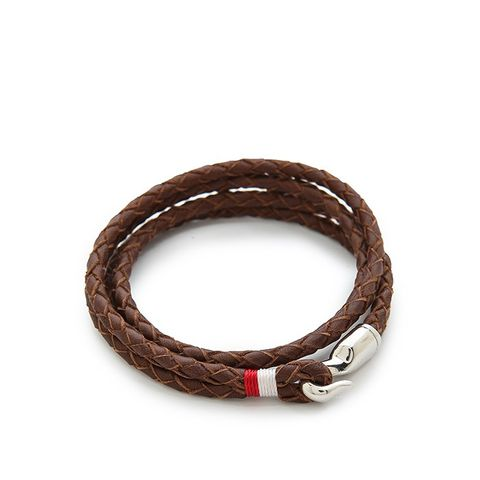 Trice Woven Leather Wrap Bracelet
