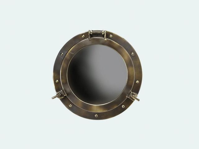 Houzz Cabin Porthole Mirror