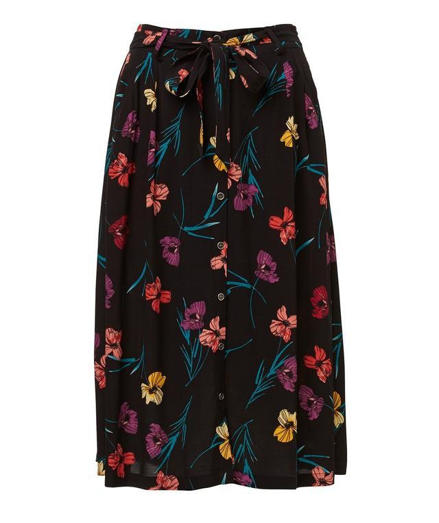 Sportsgirl Retro Floral Skirt