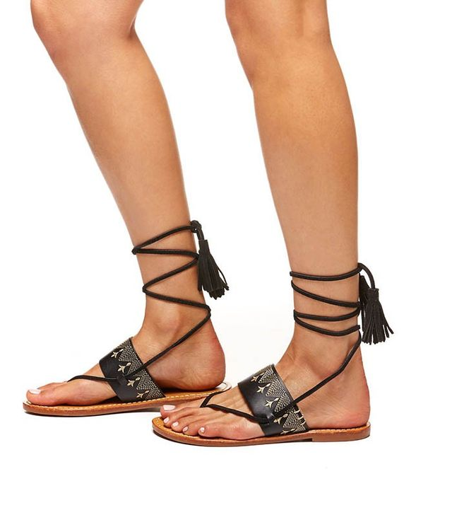 Soludos Flat Lace-Up Sandal