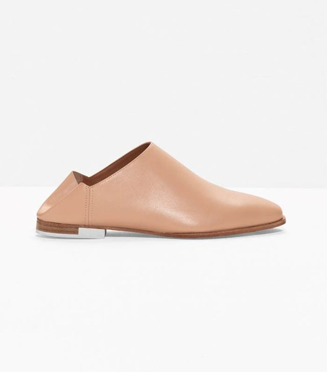 & Other Stories Leather Slip-On Flats