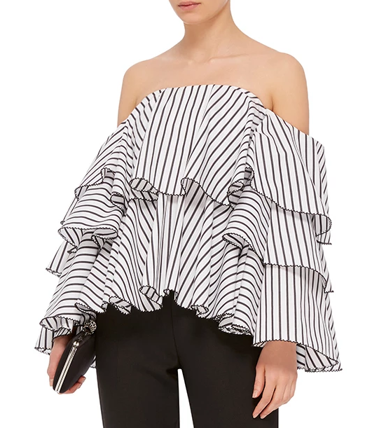 Caroline Constas Carmen Off the Shoulder Top
